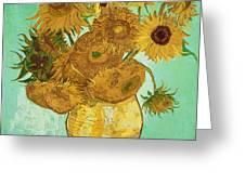 Sunflowers By Van Gogh Greeting Card