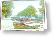 Sunken Gardens Fairmount Park Philadelphia 1907 Greeting Card