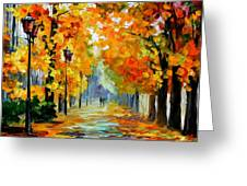 Sunny October Greeting Card