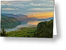 Sunrise At Columbia River Gorge Greeting Card