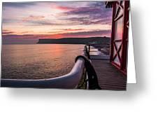 Sunrise At Saltburn Pier Greeting Card