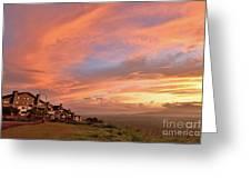 Sunrise At Tagaytay Highland Greeting Card
