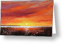 Sunrise Beach Greeting Card