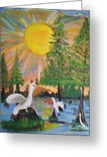 Sunrise In The Pelican State Greeting Card