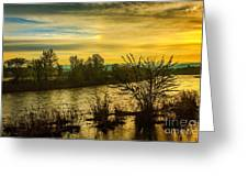 Sunrise On The Payette River Greeting Card