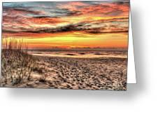 Sunrise Outer Banks Of North Carolina Seascape Greeting Card