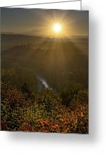 Sunrise Over Mount Hood And Sandy River Greeting Card