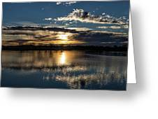 Sunrise Reflections On The Great Plains Greeting Card