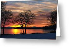 Sunrise Winnipesaukee Greeting Card