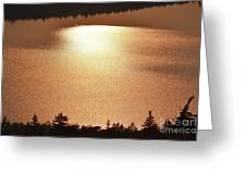 Sun's Reflection Greeting Card