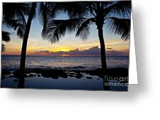 Sunset - Oahu West Shore Greeting Card