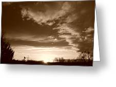 Sunset And Clouds Greeting Card