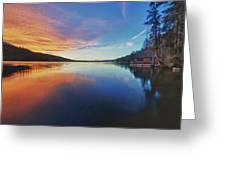 Sunset At Fallen Leaf Lake Greeting Card by Jacek Joniec