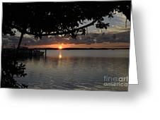 Sunset At Islamorada Greeting Card