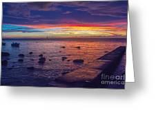 Sunset At Mauritius Greeting Card