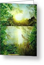 Sunset At Mill Lake Greeting Card
