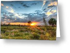 Sunset At The Field Of Dreams Greeting Card