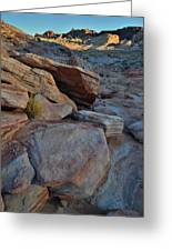 Sunset Comes To Valley Of Fire Greeting Card