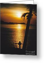 Sunset Cross Greeting Card