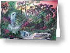 Sunset Falls Greeting Card