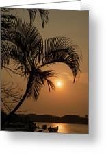 sunset Huong river Greeting Card