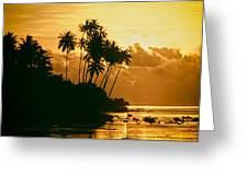 Sunset In Atiha, Moorea, French Polynesia Greeting Card