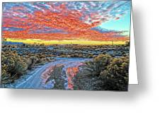 Sunset In El Prado Greeting Card