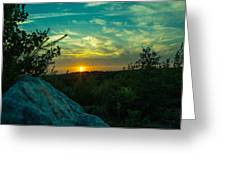 Sunset In Hudson Nh Greeting Card
