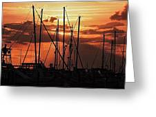 Sunset In Masts, South Fl. Greeting Card