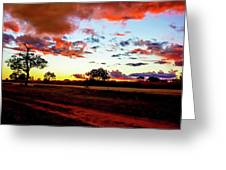 Sunset Landscape In Zambia Greeting Card