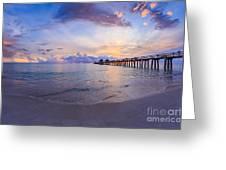 Sunset Naples Pier Florida Greeting Card