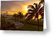 Sunset On Grace Bay Greeting Card
