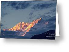 Sunset On Mount Kanchenjugha At Dusk Sikkim Greeting Card