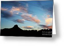 Sunset Over Thumb Butte Greeting Card