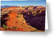 Sunset Point View Greeting Card by John Hight