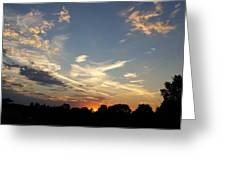 Sunset Sky Over Ohio Greeting Card