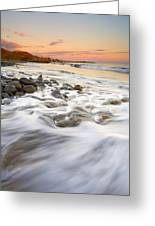 Sunset Tides Greeting Card