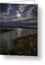Sunset,lake Greeting Card