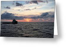 Supply Boat Greeting Card