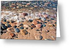 Surf And Stones Greeting Card
