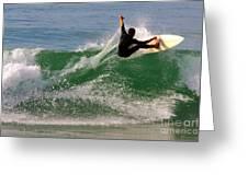 Surfer Greeting Card by Carlos Caetano