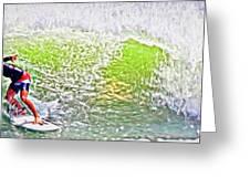 Surfer Green Greeting Card