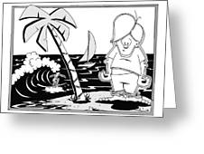 Surfer Toon 4 Greeting Card