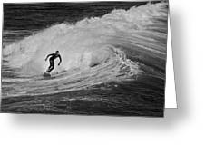 Surfing Off The Coast Of Montecito California Greeting Card