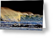 Surfing The Island #2 Greeting Card
