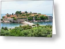 Sveti Stefan, Montenegro Greeting Card