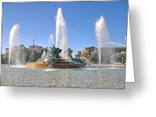 Swann Fountain - Center City Philadelphia Greeting Card
