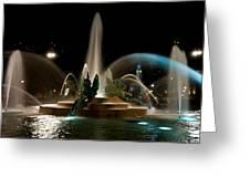 Swann Memorial Fountain Greeting Card by Louis Dallara