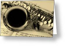 Sweet Sounds Of The Sax Greeting Card