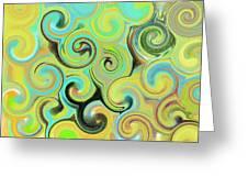 1# Swirls  Greeting Card